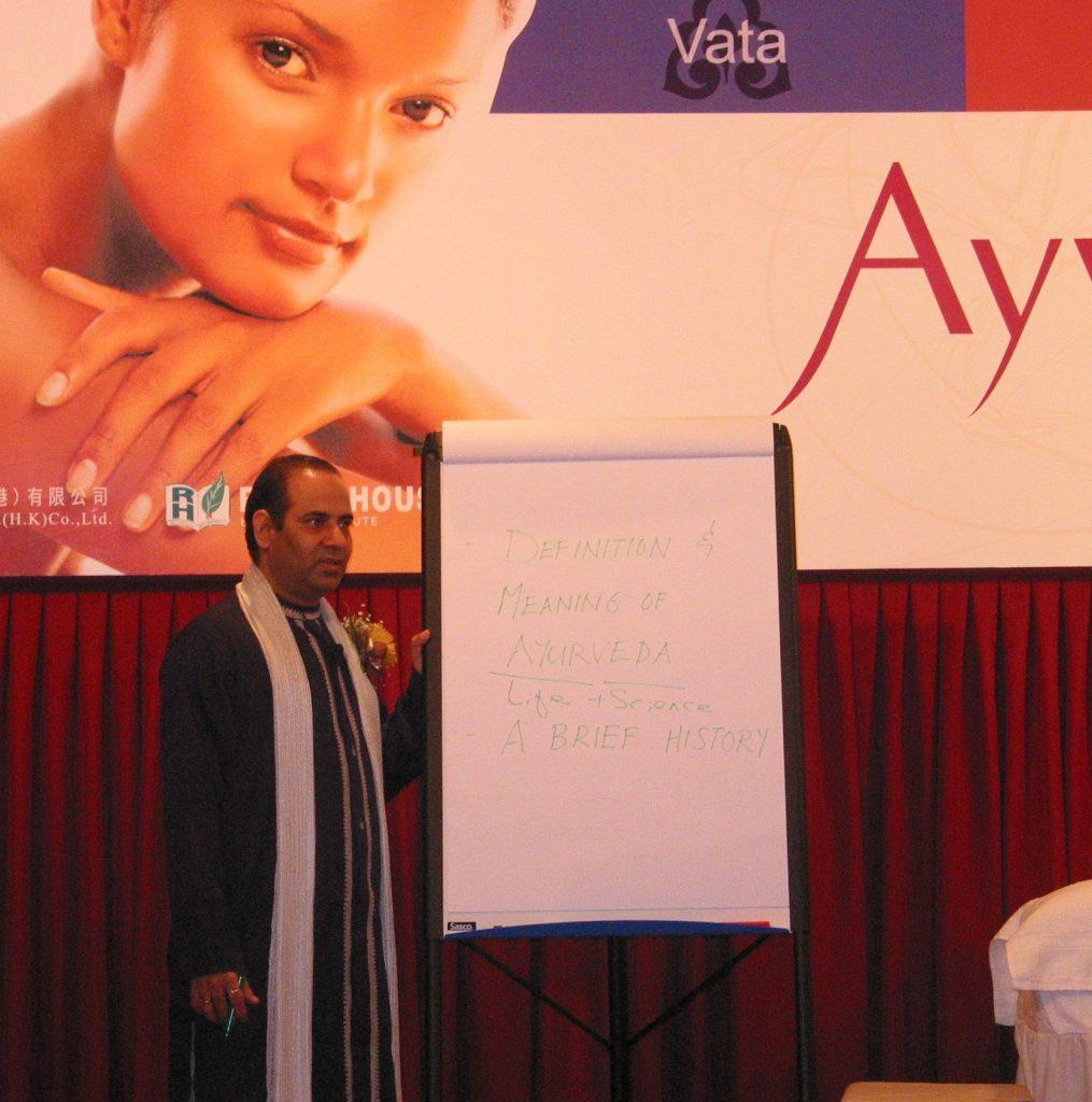 Ayurveda Seminar by Mr. Vinod Sharma Hong Kong