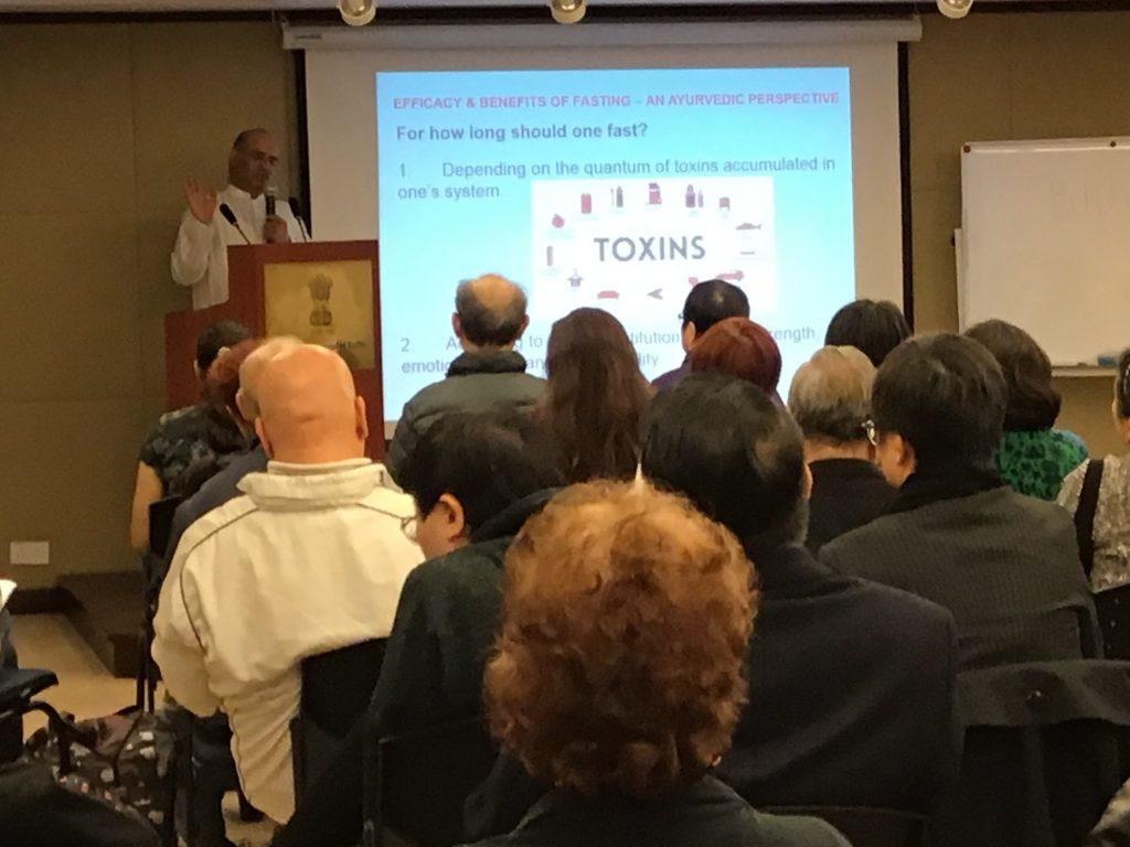 Seminar on Various Health Topics by Mr. Vinod Sharma Hong Kong