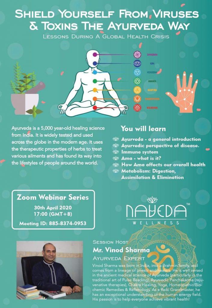 Shield Yourself from Viruses & Toxins the Ayurveda Way by Mr. Vinod Sharma Hong Kong
