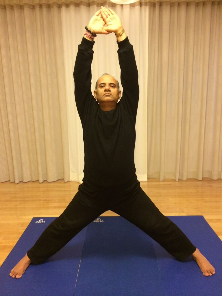 Mr. Vinod Sharma Hong Kong showing Yoga Pose 2