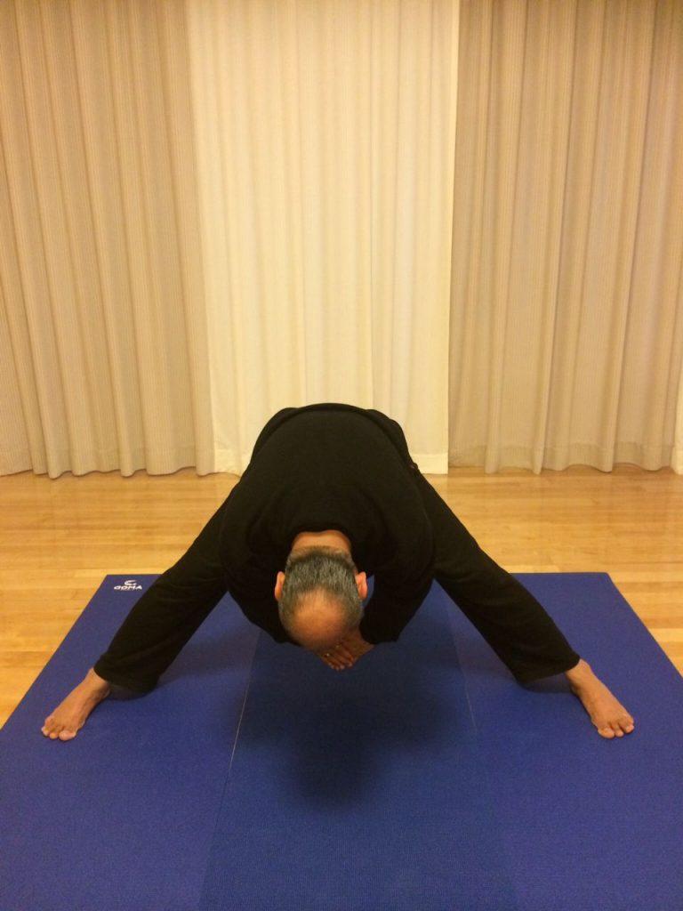 Mr. Vinod Sharma Hong Kong showing Yoga Pose