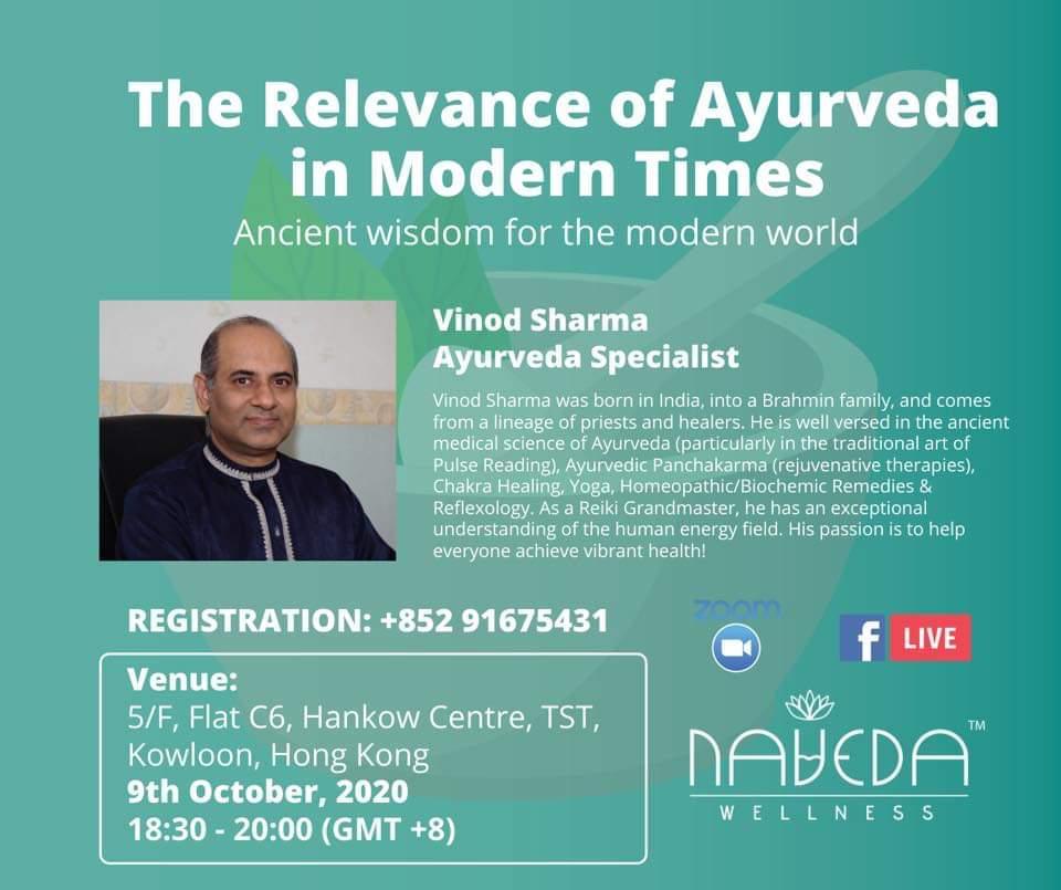 Naveda Wellness Seminar by Mr. Vinod Sharma Hong Kong